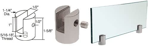 LAURENCE SM12BS CRL Brushed Stainless Slot Mount Standoff for 1//2 Panels C.R