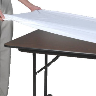 Kwik Covers White Plastic Fitted Table Cover 6ft x 30in