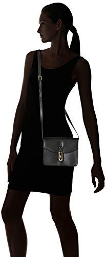 La Bagagerie Vic Bob - Bolso Cruzados de Cuero para Mujer Negro (Noir)