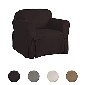 Serta | Relaxed Fit Smooth Suede Furniture Slipcover