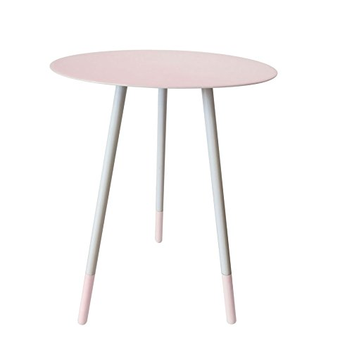 ombay Duck BDF301P Round Enamel Side Table, Pink (Bombay Side Table)
