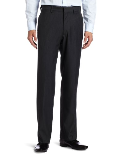 Haggar Plain Front Expandable Waistband Straight Fit