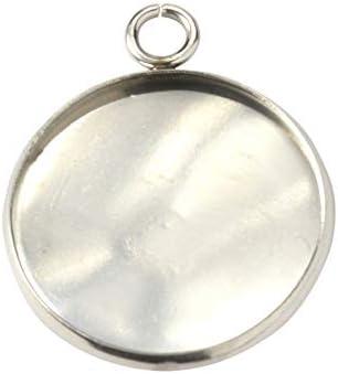 (アップフェル®)[10個] ステンレス ミール皿 20mm [ 銀 シルバー ] パーツ 金属アレルギー