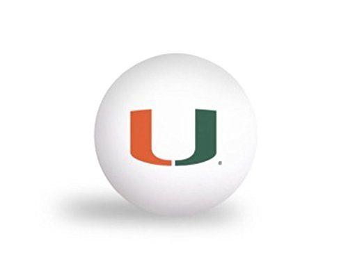 Laser Magic NCAA University of Miami Hurricanes 6 pack Ping Pong Balls