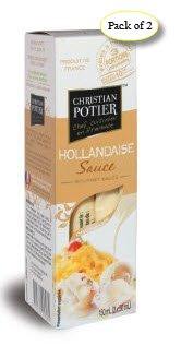 French Hollandaise Sauce - Christian Potier Hollandaise Sauce, 5.07oz, 3-Count (Pack of 2)