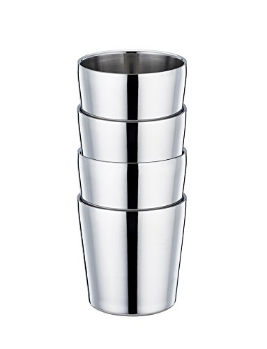 TeamFar Toddler Cup, Stainless Steel Kids Cups Mugs, Insulated Double Wall & BPA Free, Healthy & Dishwasher Safe, 6 OZ - Set of 4 by TeamFar (Image #1)