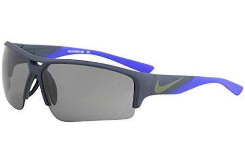 NIKE EV0872-402 Golf X2 Pro Sunglasses (Frame Grey with Gunmetal Flash Lens), Matte Squadron Blue/Racer Blue ()