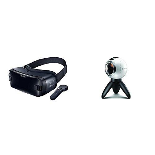 Samsung Gear VR W/Controller - Latest Edition (US Version with Warranty) + Samsung Gear 360 Real 360° High Resolution VR Camera (US Version with Warranty)
