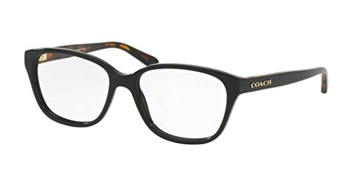 Coach Women's HC6103F Eyeglasses Black/ Black Tortoise 54mm