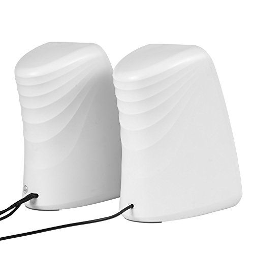 Besteye BE-829 USB Speakers for Computer Laptop Notebook Plug and Play with Enhanced Bass Resonator Stereo Sound PC Computer Speaker White by Besteye (Image #6)