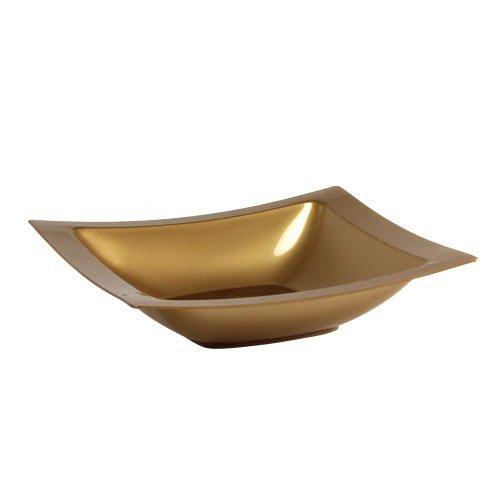 Lillian Tablesettings 10 Count Rectangular Plastic Bowls, 5-Ounce, (Black Rectangular Bowl)