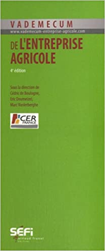 Amazon Fr Vademecum De L Entreprise Agricole Boulogne Cedric De Doumeizel Eric Vanlerberghe Marc Collectif Livres