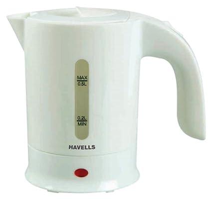 Havells Travel Ease 0.5-Litre 650-Watt Kettle (White)