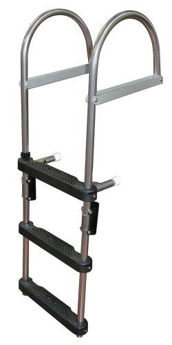 JIF Marine EPZ3 Transom Pontoon Ladder, 3-Step