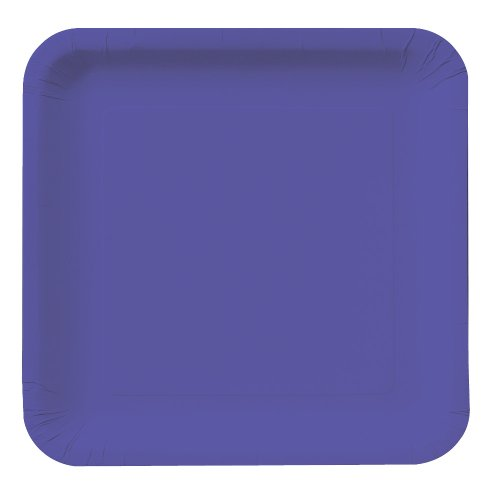 - Creative Converting Touch of Color 18 Count Square Paper Dinner Plates, Purple