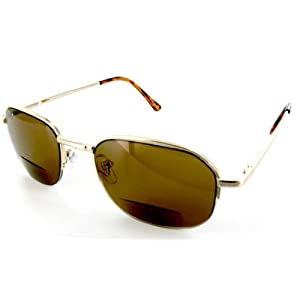 Canyon Drive designer fashion Bifocal Sunglasses for youthful and active men who want to read with ease outdoors in the sun. (Gold +1.25)