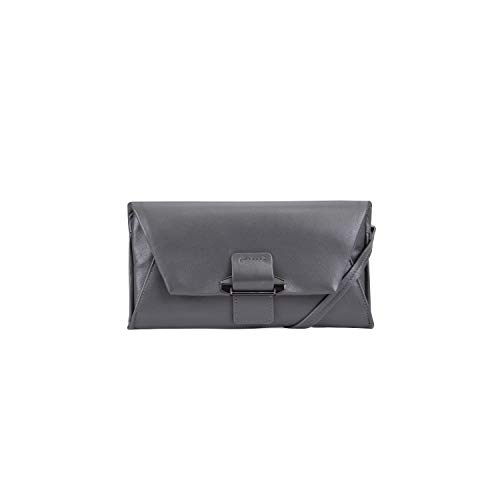 - Kooba Handbags Womans Leather Crossbody Wallet with Detachable Shoulder Strap,  Steel Grey, One Size