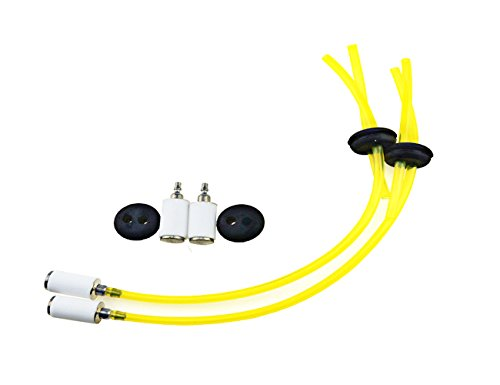XLX Pack of Fuel Line Two Hole Grommet 2Pcs Fuel Filter Assembly for Earthquake Auger E43 MC43 3004105 300494 Lawnmower Chainsaw (Two Grommet)