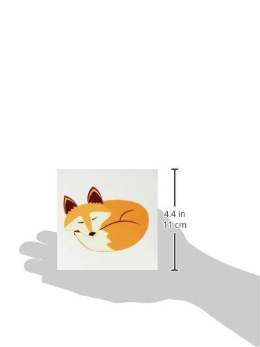 Set of 4 3dRose CST/_175374/_3 Cute Sleeping Red Fox Ceramic Tile Coasters