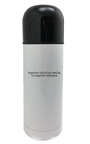 Negative thinking results in negative outcomes 350ml white thermos by PickYourImage