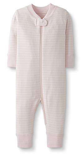 Moon and Back by Hanna Andersson Baby/Toddler One-Piece Organic Cotton Footless Pajamas, Pink Stripe, 3T