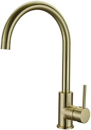 流域ミキサータップ、浴室のミキサーのタップ、キッチンシンクタップミキサー、ホース、継手付きシングルレバーモノブロッククロームブラス滝フラットスパウト現代スイベル
