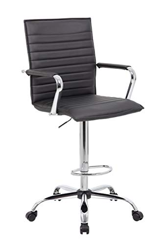 Boss Office Products B16533C-BK Drafting Stool -