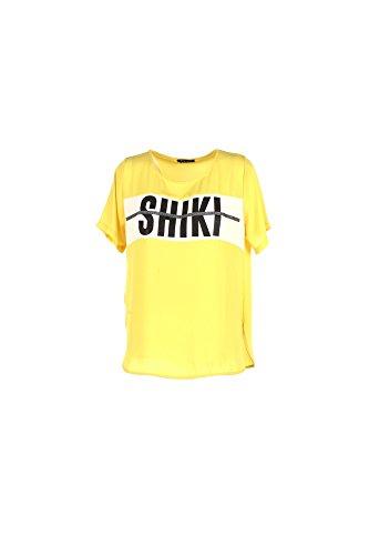 T-shirt Donna Shiki M Giallo 17esk34230 Primavera Estate 2017