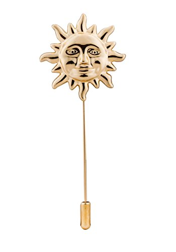 Knighthood Men's Exclusive Gold Sun Lapel Pin/Shirt Stud Brooch (New Collection) - New Cufflinks Stud