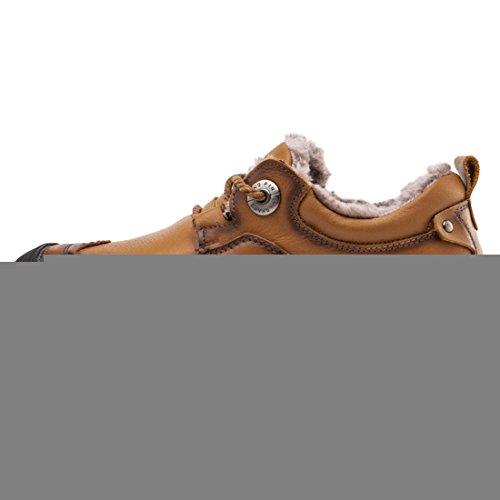 Miyoopark UK-XCR9766, Herren Schnürhalbschuhe, Braun - Brown-fur Lined - Größe: 38
