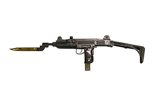 Posterazzi PSTACH100449MLARGE Uzi 9mm submachine gun with attached bayonet Poster Print 34 x 23 -