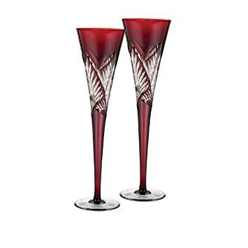 (Waterford Crystal Times Square 2014 Red Flutes, Pair)