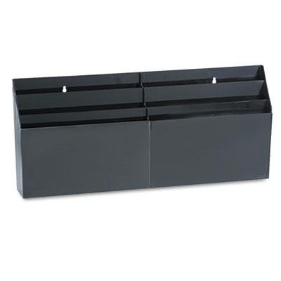 Rubbermaid - Optimizers Six-Pocket Organizer 24 5/8 X 2 3/4 X 11 1/2 Black ''Product Category: Desk Accessories & Workspace Organizers/Sorters''