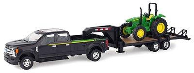 ERTL 46630 Ford Pickup with Gooseneck Trailer & John Deere Tractor Vehicle