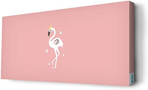 Flamingo with a crown Wall Canvas by Decalac,100X 45cm - 19097