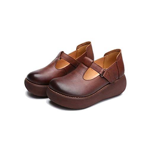 Brown Zpedy La À Plates formes Femmes Sauvages Faites Tendances Main Décontractées Chaussures qrqPanpf