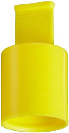 Yellow Pack of 100 Kapsto 210 ZL 16 x 20 Ethylene Vinyl Acetate Grip Cap 16 mm Tube OD