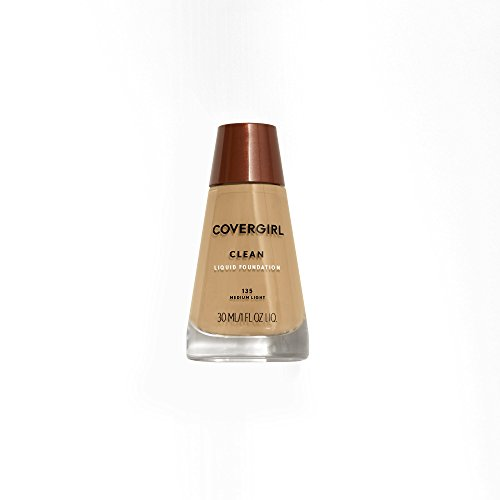 COVERGIRL Clean Makeup Foundation Medium Light 135, 1 oz (packaging may vary)