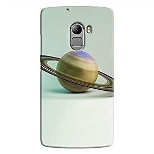 Cover It Up - Saturn on White K4 Note Hard Case