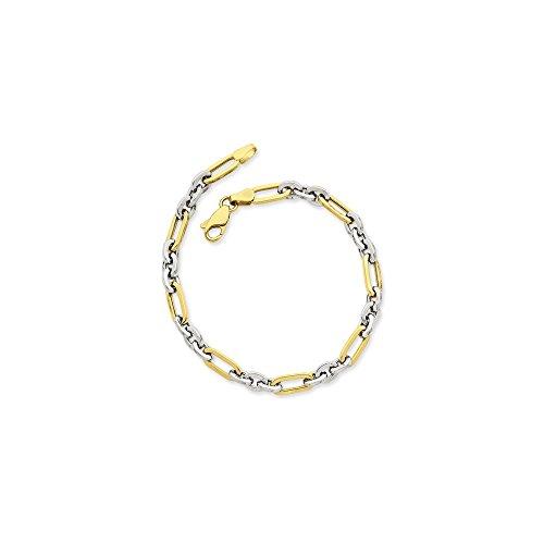 Icecarats Créatrice De Bijoux 14K Bicolore Lien De Fantaisie Bracelet En 7,5 Pouces