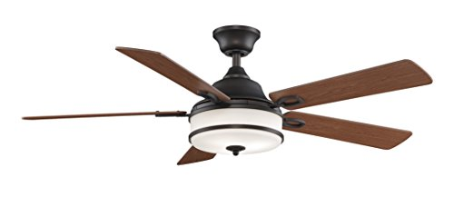 Fanimation Stafford - 52 inch - Dark Bronze with Light Kit and Remote  - PL8274DZ from Fanimation