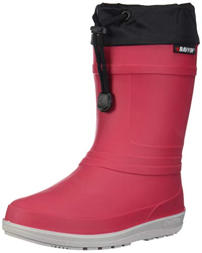 Baffin Unisex ICE Castle Rain Boot, red, 13 Youth US Little Kid - Outdoor Kids Boots
