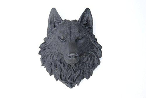 Near and Deer Faux Taxidermy Wolf Head Wall