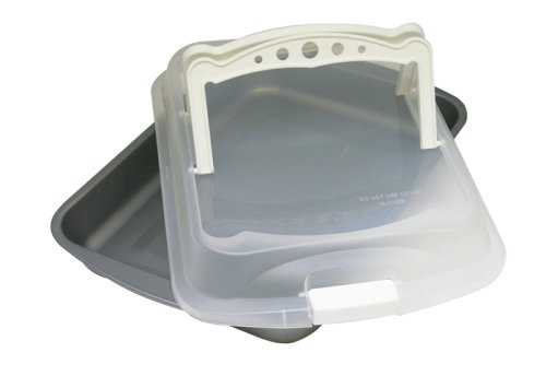 OvenStuff Nonstick Roasting Pan with Cover and Handles, 14.5
