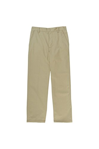 Polyester Uniform Pants - French Toast Little Boys' Pull On Pant, Khaki, 5