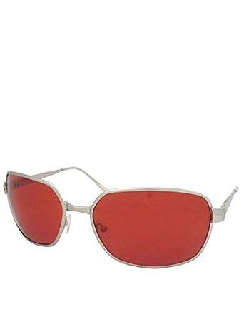 Tyler Estilo gafas de sol, Marco plateado / lente roja