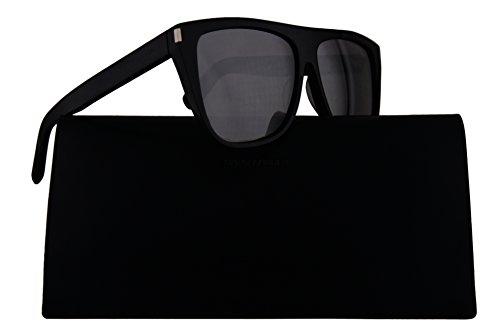 Saint Laurent SL 1 Sunglasses Black w/Grey Mirror Lens 59mm 001 - Saint Womens Sunglasses Laurent