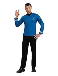 Rubies Costume Star Trek Into Darkness Spock Shirt with Emblem, Blue