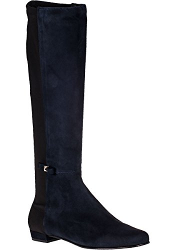 kate spade new york Womens Olivia Riding Boot Navy Suede 27CPJMm8
