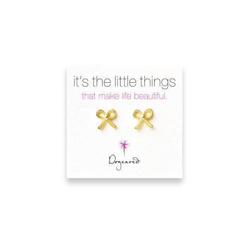 Dogeared It's the Little Things Bow Earrings - Gold Dipped by Dogeared